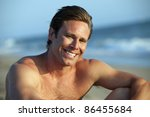 young man at the beach | Shutterstock . vector #86455684