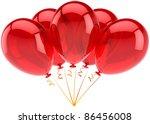 birthday balloons party balloon ... | Shutterstock . vector #86456008