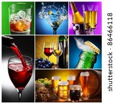 collection of images of alcohol ... | Shutterstock . vector #86466118