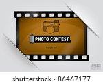negative filmstrip frame... | Shutterstock .eps vector #86467177