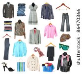 clothing collection isolated on ...   Shutterstock . vector #86470366