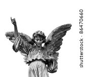 Winged Angel Statue Isolated O...