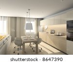 kitchen with the modern... | Shutterstock . vector #8647390