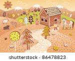 gingerbread world | Shutterstock .eps vector #86478823
