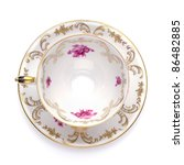 Antique Tea Cup From Top On...