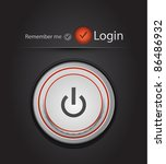 vector login page with tune... | Shutterstock .eps vector #86486932