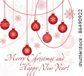 christmas card with snowflakes... | Shutterstock . vector #86490922