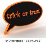 trick or treat | Shutterstock . vector #86491981