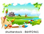 illustration of painting of... | Shutterstock .eps vector #86492461