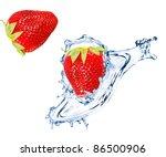 Fresh Strawberry Splashing Int...