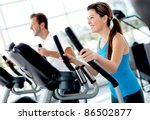 group of people at the gym... | Shutterstock . vector #86502877