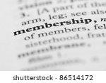 dictionary series   membership | Shutterstock . vector #86514172