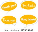 thank you and many thanks... | Shutterstock .eps vector #86535262
