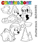coloring book wintertime... | Shutterstock .eps vector #86544490