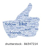 illustration of the thumbs up... | Shutterstock . vector #86547214