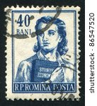 romania   circa 1955  stamp... | Shutterstock . vector #86547520