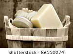 A Washtub With Washing Accessory