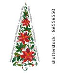 decorative christmas tree | Shutterstock .eps vector #86556550