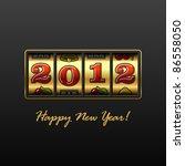 happy new year 2012  vector. | Shutterstock .eps vector #86558050