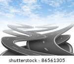 strategy and choice... | Shutterstock . vector #86561305