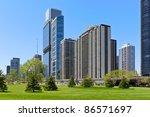 chicago skyline in summer | Shutterstock . vector #86571697