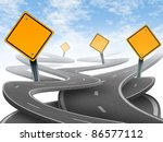directions and confusion... | Shutterstock . vector #86577112