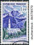 france   circa 1960  a stamp... | Shutterstock . vector #86578570