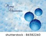 blue elegant christmas... | Shutterstock . vector #86582260