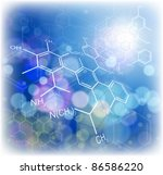 technology background  chemical ... | Shutterstock . vector #86586220