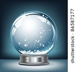 realistic empty snow globe on a ... | Shutterstock .eps vector #86587177