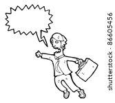 cartoon business man in rush | Shutterstock .eps vector #86605456