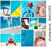 Vacation collage - (All photos you can find in my port in high resolution) - stock photo