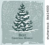 vintage christmas card with... | Shutterstock .eps vector #86614000
