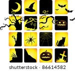 halloween icon in two tone... | Shutterstock .eps vector #86614582