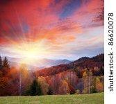 Autumn Landscape In Mountains....