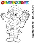 coloring book santa claus topic ... | Shutterstock .eps vector #86623534