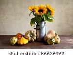 Autumn Still Life Illustration...