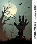 halloween background   Shutterstock .eps vector #86629180