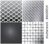 vector metallic mesh set | Shutterstock .eps vector #86630014