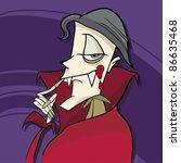 cartoon illustration of funny... | Shutterstock . vector #86635468