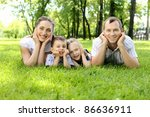 family of mother  father and... | Shutterstock . vector #86636911