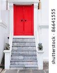 Antique Red Door