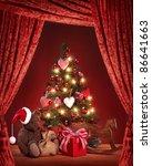 Christmas Tree With Teddy Bear...