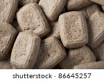 Dutch speculaas or shortcrust biscuit served in Holland on December 5th. - stock photo