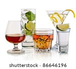 various cocktails and alcohol... | Shutterstock . vector #86646196