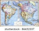 Map South America Galapagos - Fine Art prints