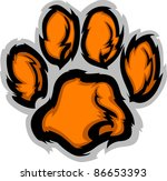 Tiger Paw Graphic Mascot Vecto...