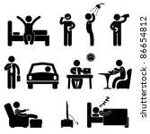 man daily routine people icon... | Shutterstock . vector #86654812