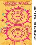 pink hedgehog  vector... | Shutterstock .eps vector #86656384