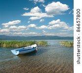 Cloudscape On Lake Prespa With...